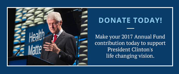 Make your 2017 Annual Fund contribution today to support President Clinton's life changing vision.