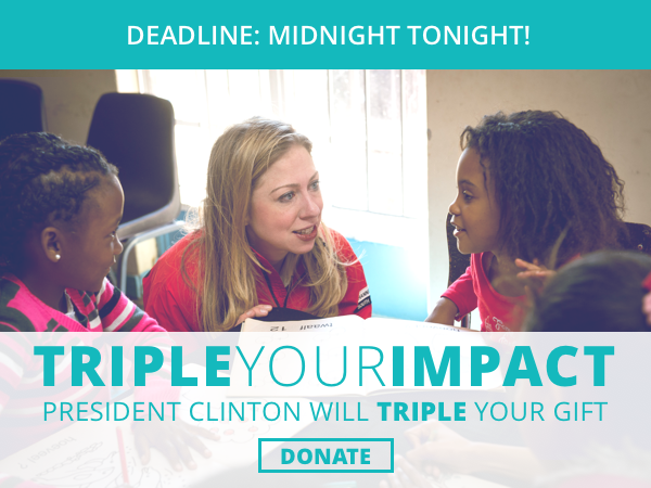 DEADLINE: MIDNIGHT TONIGHT! TRIPLE YOUR IMPACT