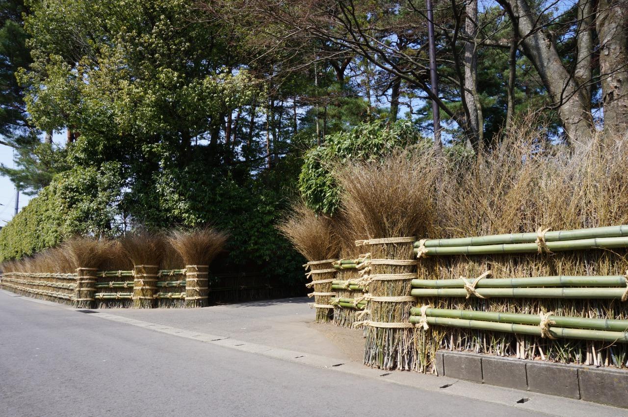Ishimoto Sake Brewery Bamboo Fence