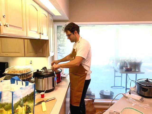 Darko cooks delicious chili
