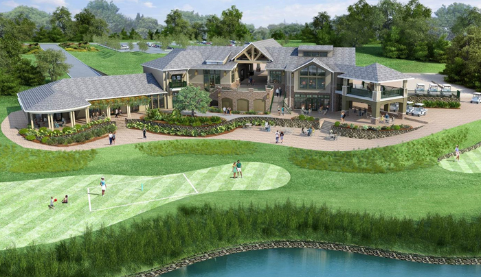 Architectural rendering of the new 17,667 sq. ft. Spring Creek Clubhouse