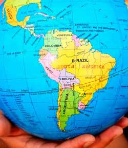 Lateinamerika Globus