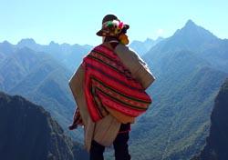 Person in den Anden