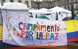 """""""Campamento por la paz"""" Kolumbien"""