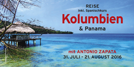 Flyer: Kolumbien & Panama Reise