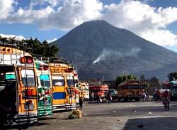 Busse in Guatemala