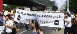Protest gegen Korruption in Brasilien