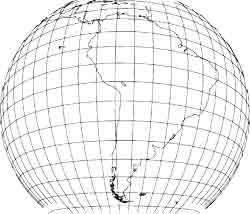 Globus Lateinamerika