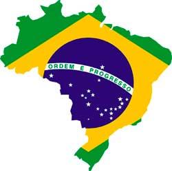 Karte und Fahne Brasilen