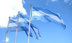 Fahne Argentinien