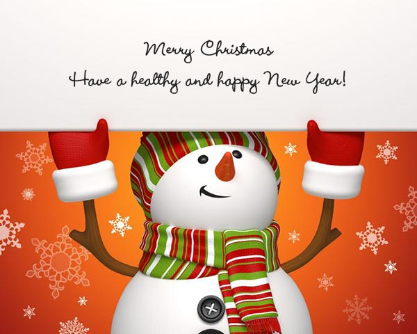 Merry Christmas and have a healthy and happy New Year!