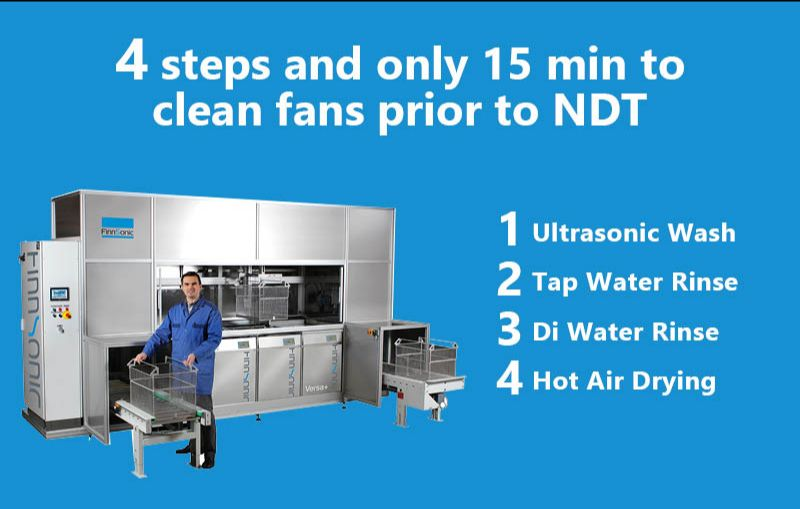 best ultrasonic cleaning system for aircraft fan blades