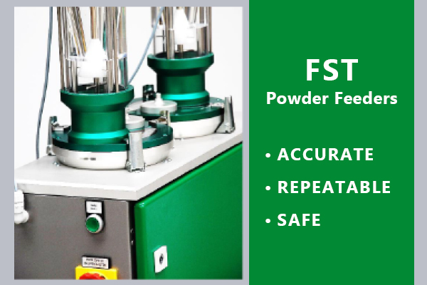 accurate and repeatable powder feeder for thermal spray aerospace industry