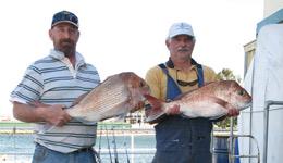 James and Allan fishing