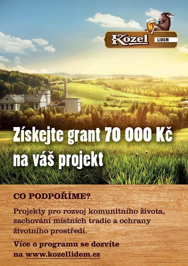 Získejte grant 70 000 Kč na váš projekt