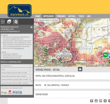 Risk Map auf gipfelbuch.ch