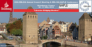 "26th EBLIDA Annual Council Meeting & EBLIDA-NAPLE Conference is ""Libraries bridging borders"""