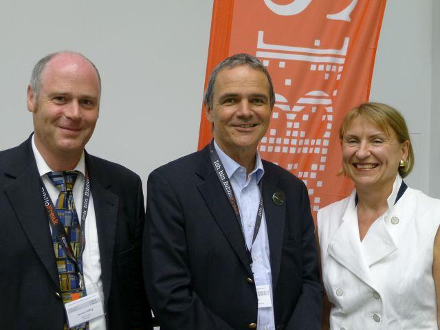 EBLIDA Treasurer Jean-Marie Reding, BIS President Herbert Staub and EBLIDA Vice-President Barbara Lison