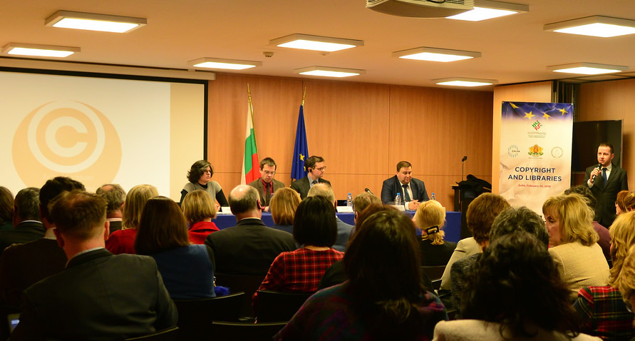 Panel participants from left to right: T. Trencheva, V. Bonnet, S. Wyber, E. Radev
