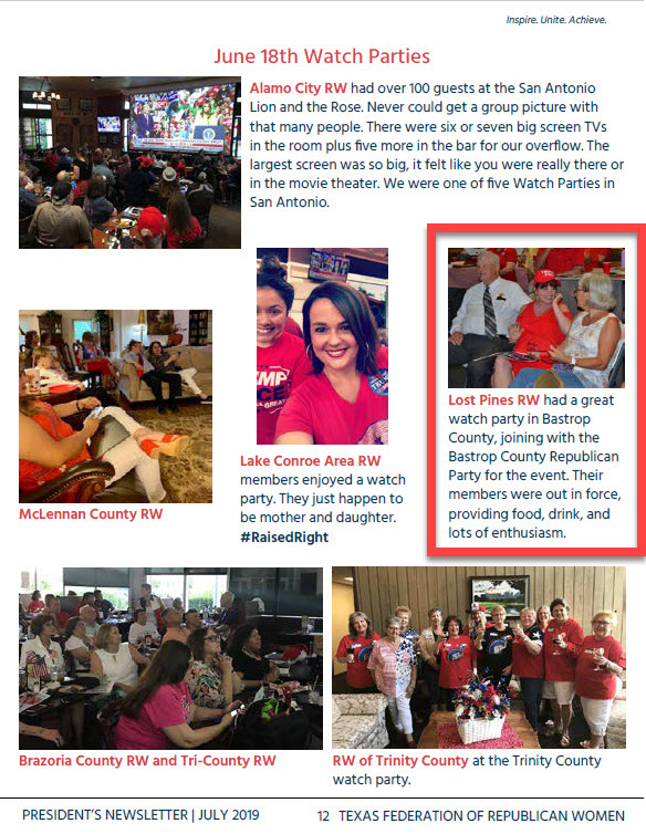 Page 12 TFRW President's Newsletter