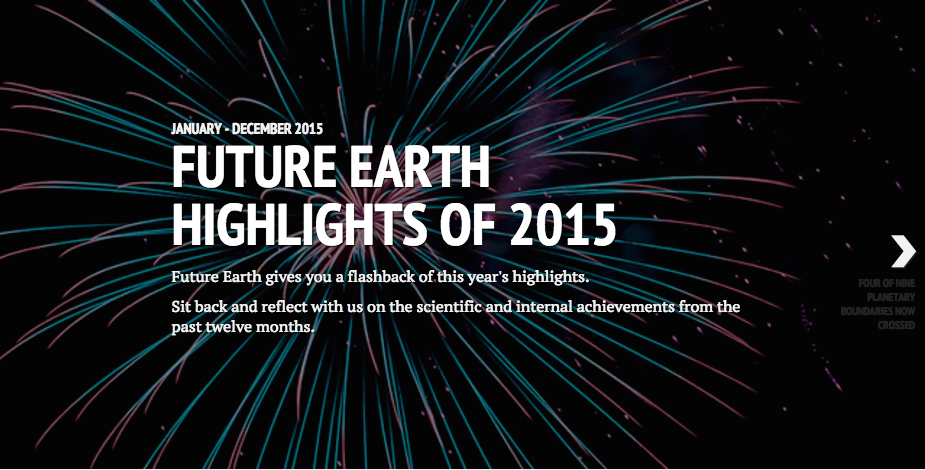Future Earth highlights of 2015