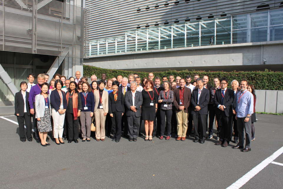 Members of the Science and Engagement Committees with Secretariat Staff in Japan.