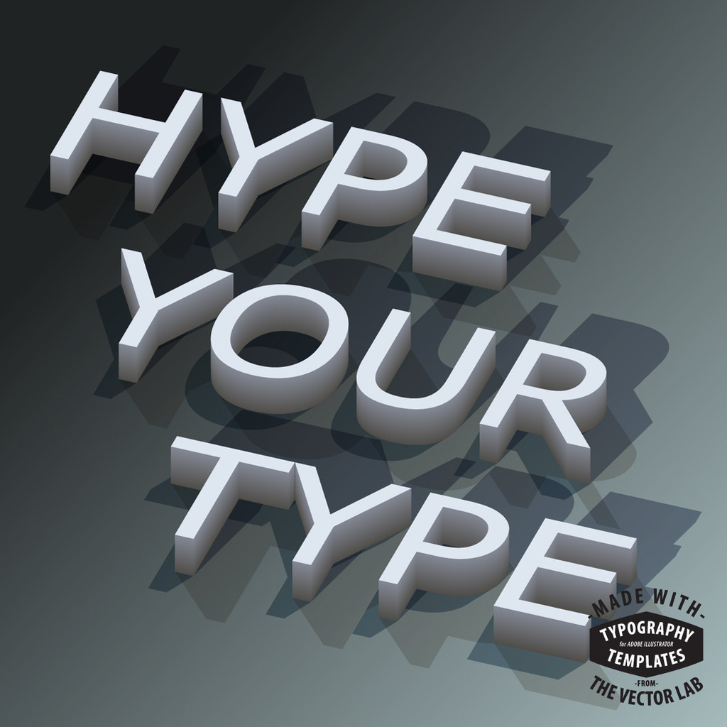 Typography Templates for Adobe Illustrator