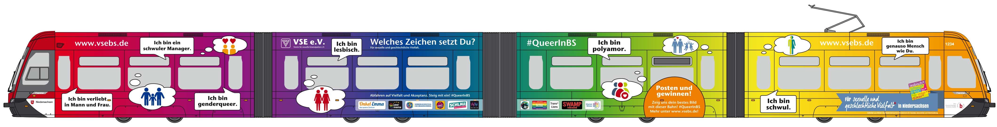 Braunschweig: Einweihung der Regenbogenbahn am 17. Februar 2018