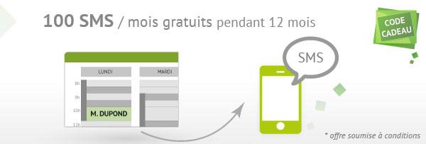 Offre 100 SMS / mois gratuits