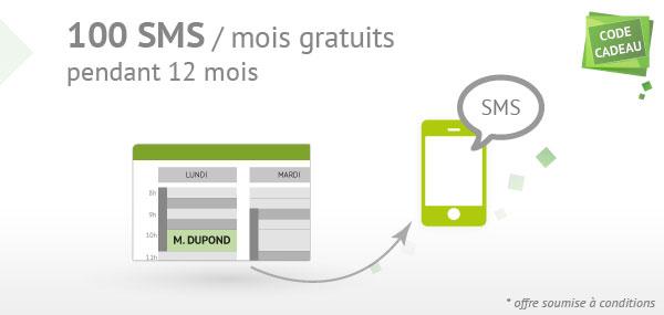 100 SMS / mois gratuits