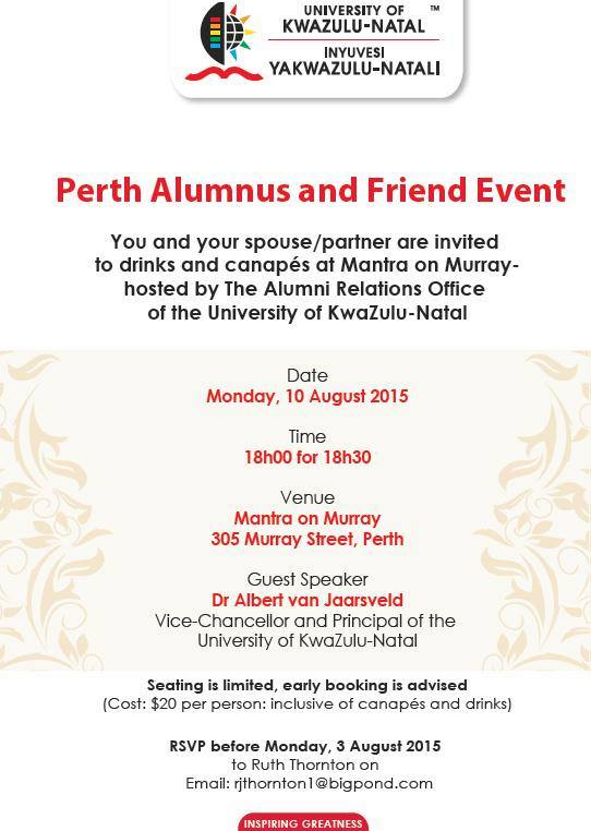 Perth Alumnus Event