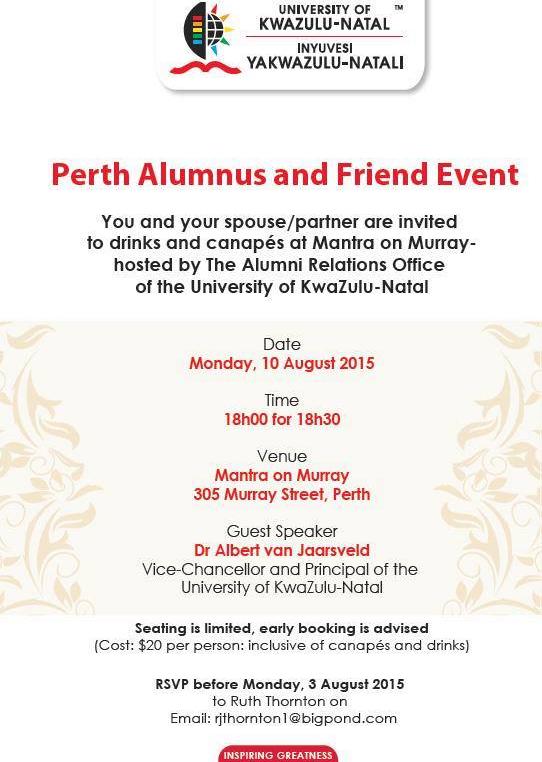 Perth Alumnus Event