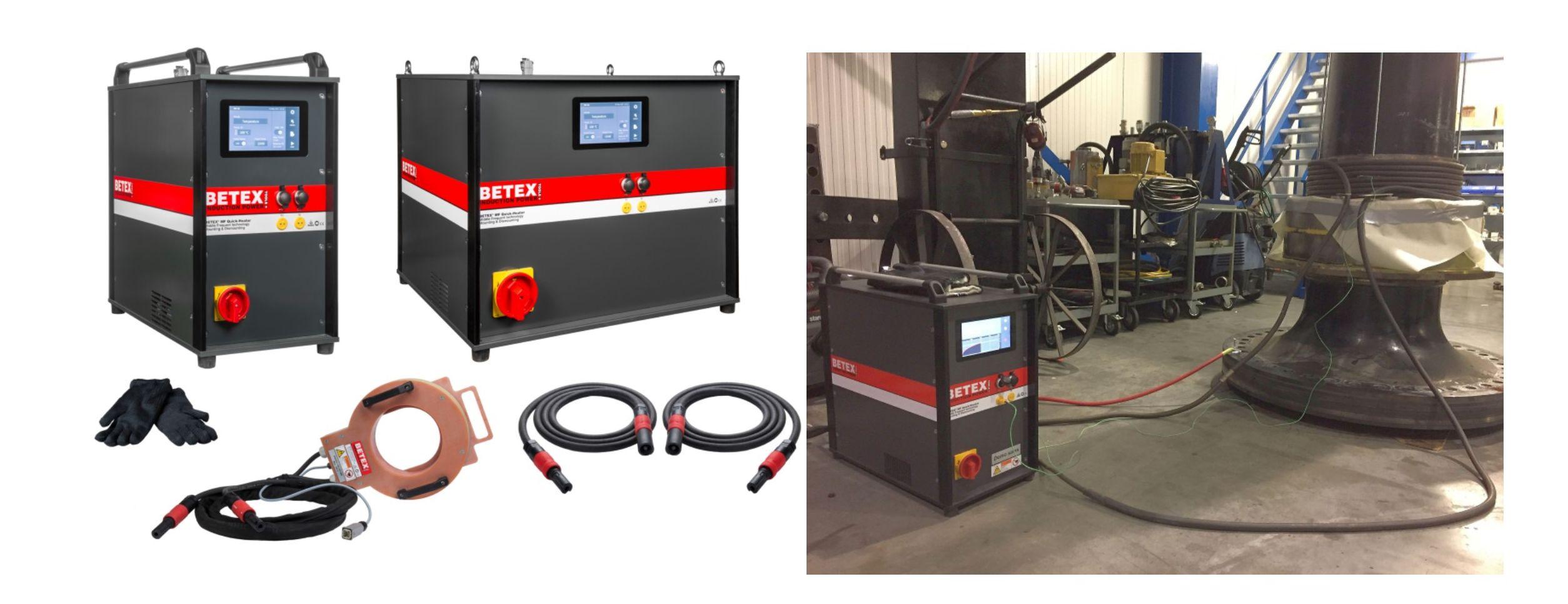 BETEX MF Quick-Heaters voor montage, demontage en voorverwarming