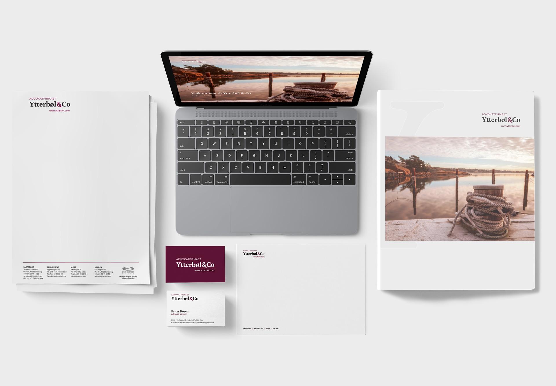 Advokatfirmaet Ytterbøl & Co har redesignet og har nye nettsiderside og profil