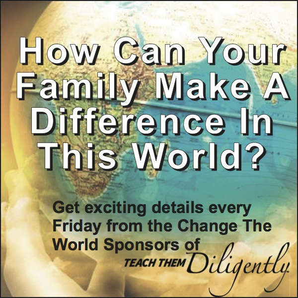 How can your family make a difference in this world?