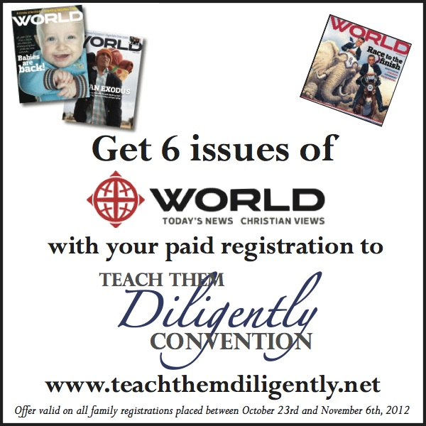 Special Gift From Teach Them Diligently And World Magazine