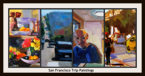 San Francisco painting collage