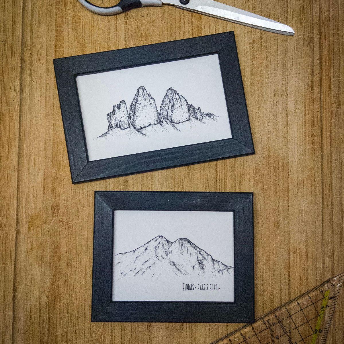 Zeichnungen mit Rahmen