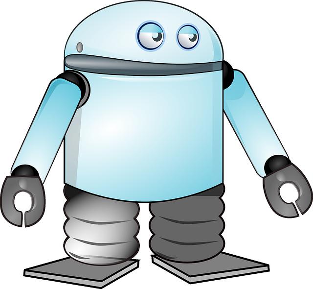 Cute robot cartoon character