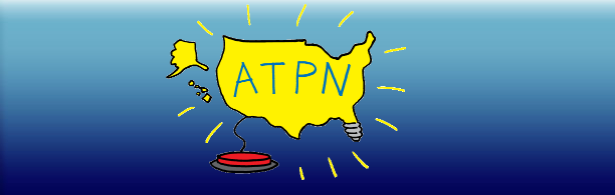 A.T.P.N. logo: shows outline of the United States lit up like a light bulb by a large red switch.
