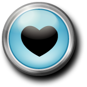 Graphic of a power button with a heart in the center.