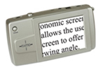 Digital magnifier displaying text.