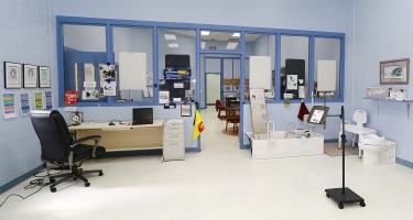 AT Lab showing bathroom equipment