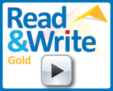Read&Write Gold logo with play button