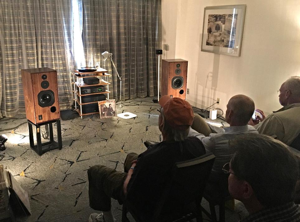 Visitors enjoying the SHL5plus anniversary model at the LA Audio Show