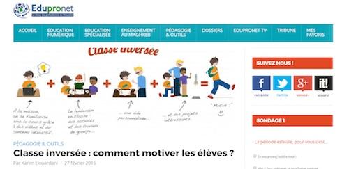 Article - Classe inversée et motivation