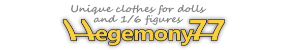 Hegemony77 clothes for dolls and 1/6 figures