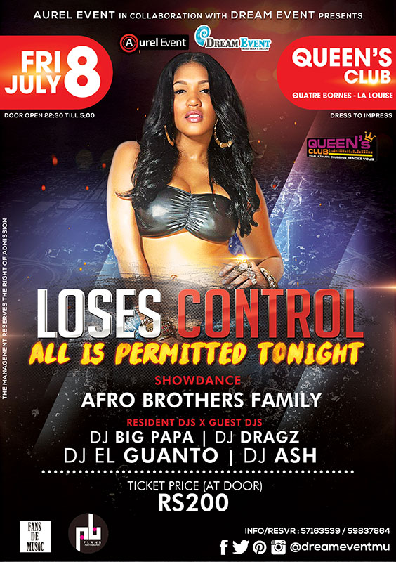 Dream Event Mauritius - Loses Control (All Is Permitted) At Queen\'s Club