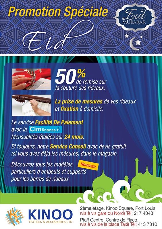 Kinoo Textiles & Accesories Ltd - Promotion Spéciale Eid