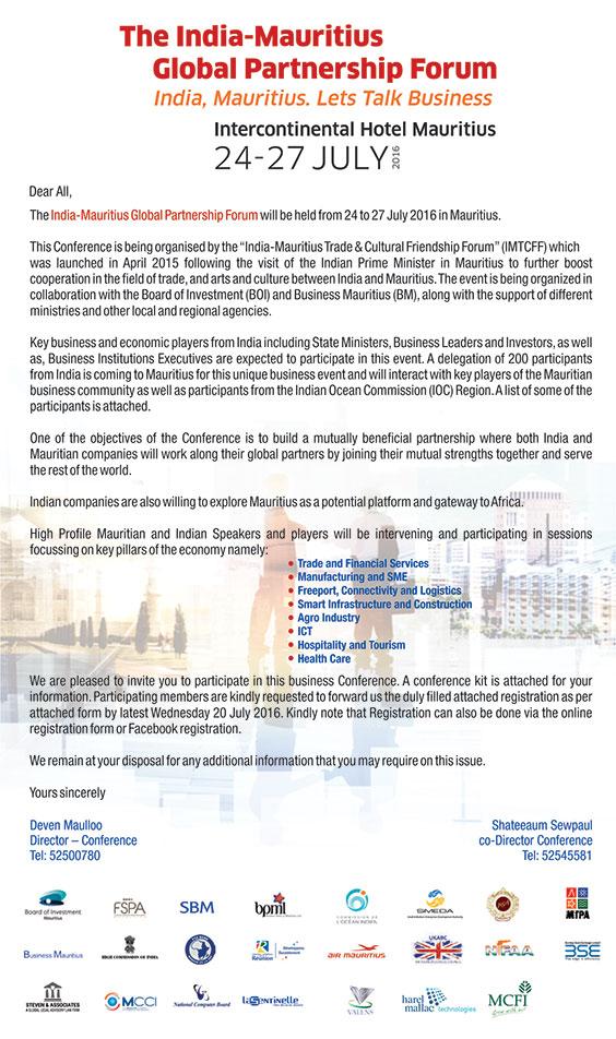 India-Mauritius Global Partnership Forum
